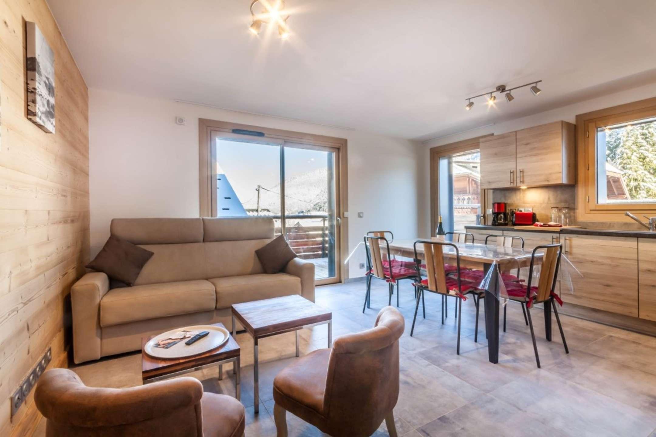 Magnifique appartement 8 personnes - résidence neuve au pied des pistes