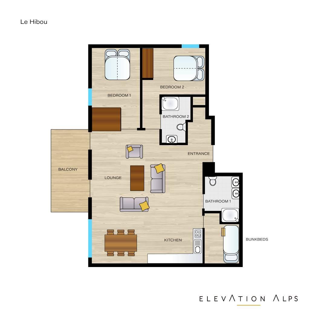 JOUX PLANE T3+cabine MORZINE